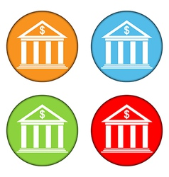 Bank button set vector image