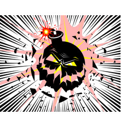 big bomb explosion vector image
