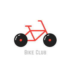 bike club with red bicycle vector image