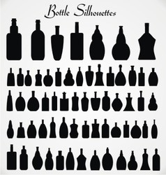 Bottle sihouettes vector