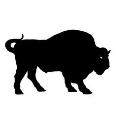 Buffalo bison bull silhouette vector