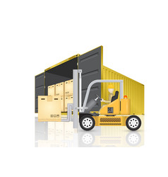 cargo container vector image