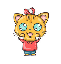 cartoon cute kitty vector image