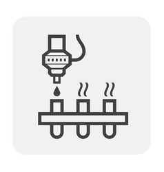 Chemical production icon vector