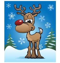 Christmas Holiday Red Nose Reindeer vector