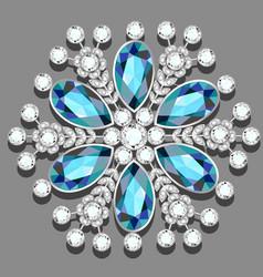 Christmas snowflake crystal precious beautiful vector
