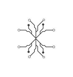 circuit icon design vector image