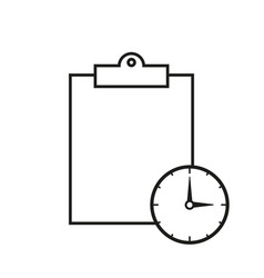 clip board work icon vector image