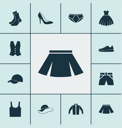 clothes icons set collection of heel footwear vector image