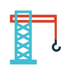 Crane hook service icon vector