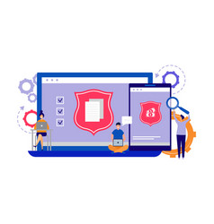 data protection internet security concept phone vector image