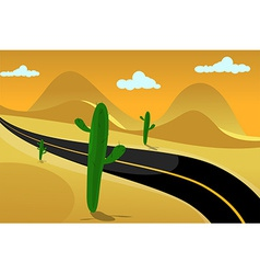 Desert road background vector image