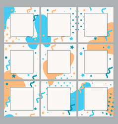Endless editable template for social networks vector