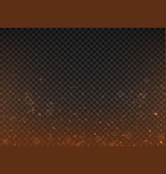 Fire background on a transparent background with vector