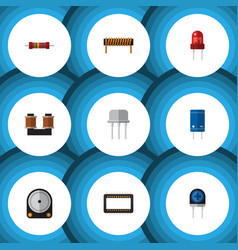 Flat icon technology set of resist recipient vector