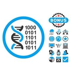 Genetical Code Flat Icon with Bonus vector
