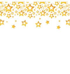 Gold stars christmas decoration backgroud vector