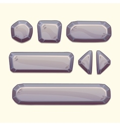 Gray stone buttons vector