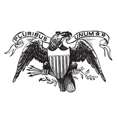 Great seal of the us 1913 vintage vector