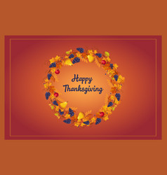 happy thanksgiving celebration banner bright vector image