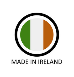 icon made in ireland vector image