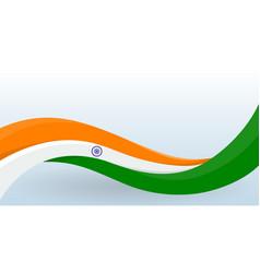 india national flag waving unusual shape design vector image