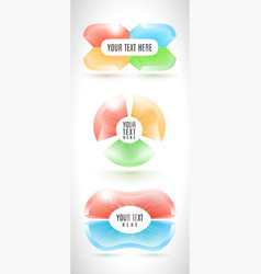 infographic business banner set from abstract vector image