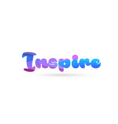 Inspire pink blue color word text logo icon vector