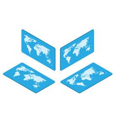 isometric world map earth isolated vector image