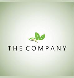 Leaf logo ideas design on ba vector