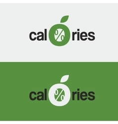 Logo icon zero calories a stylized apple vector
