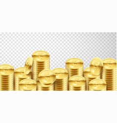 lot gold money background business and banking vector image