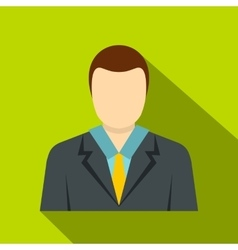 Man in a suit icon flat style vector