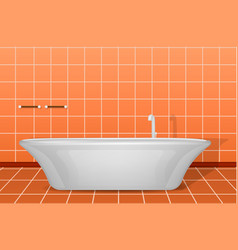 modern white bathtub concept background realistic vector image