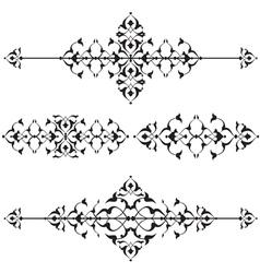 Oriental border and ornament sixteen vector
