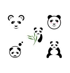 panda logo template icon vector image