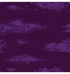 Pixel art night sky seamless pattern vector image