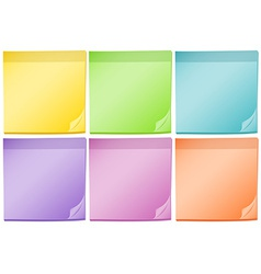 Post-it pads vector image