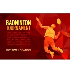 Professional badminton player pattern design vector image