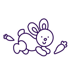 rabbit icon isolated on white background from vector image
