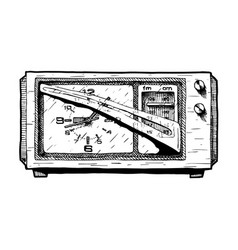 Radio clock vector