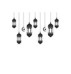 Ramadan kareem lantern islamic logo vector