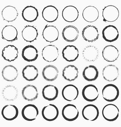 Ring stamp big set vector
