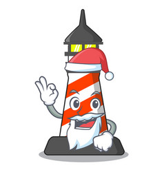 santa classic cartoon lighthouse of red vector image