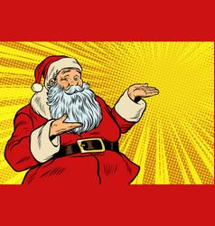 santa claus copy space template vector image