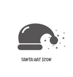 santa hat icon simple flat style vector image