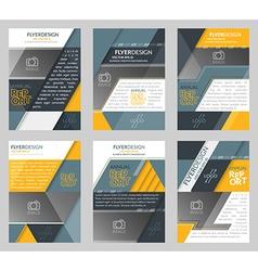 Set of business flyer template brochure or vector