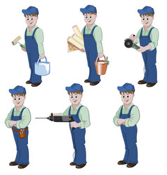 set of decorator or handyman vector image