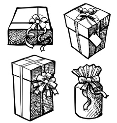 set of gift box 1 vector image