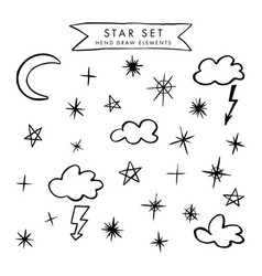 Set with night sky vector